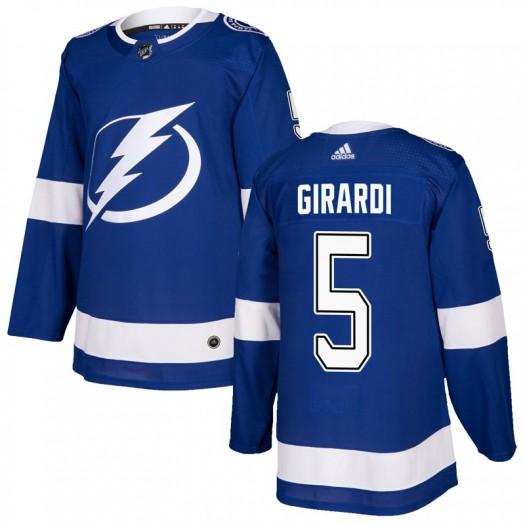 Dan Girardi Tampa Bay Lightning Youth Adidas Authentic Blue Home Jersey
