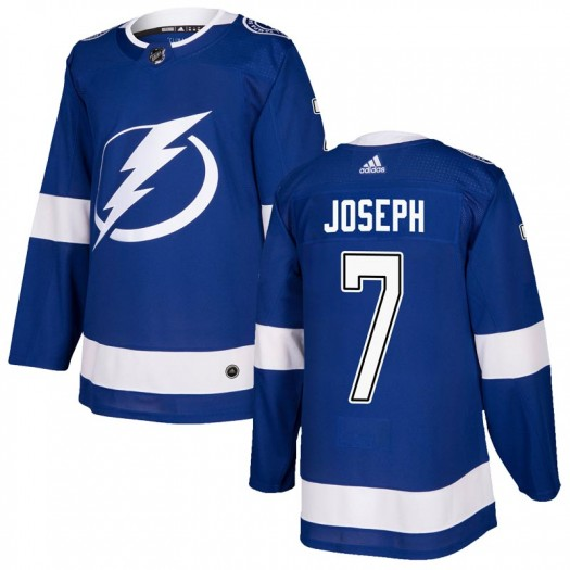 Mathieu Joseph Tampa Bay Lightning Youth Adidas Authentic Blue Home Jersey