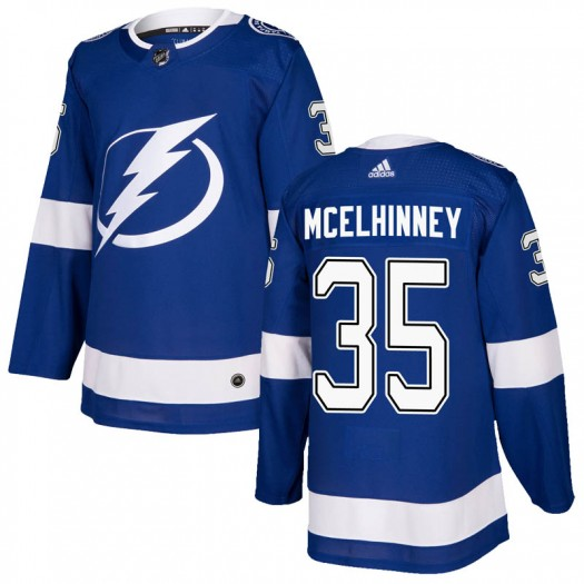 Curtis McElhinney Tampa Bay Lightning Youth Adidas Authentic Blue Home Jersey