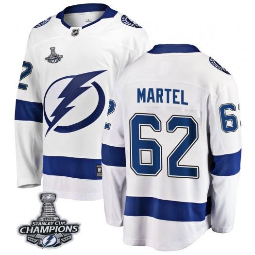 Danick Martel Tampa Bay Lightning Men's Fanatics Branded White Breakaway Away 2020 Stanley Cup Champions Jersey