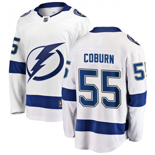 Braydon Coburn Tampa Bay Lightning Youth Fanatics Branded White Breakaway Away Jersey