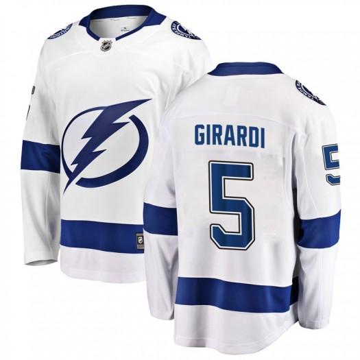 Dan Girardi Tampa Bay Lightning Youth Fanatics Branded White Breakaway Away Jersey