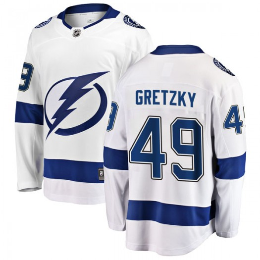 Brent Gretzky Tampa Bay Lightning Youth Fanatics Branded White Breakaway Away Jersey