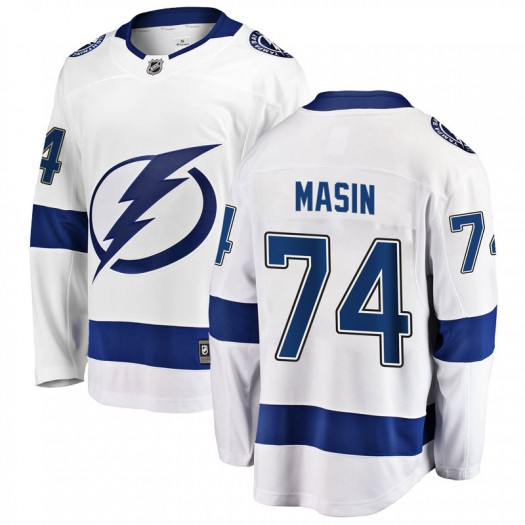 Dominik Masin Tampa Bay Lightning Youth Fanatics Branded White Breakaway Away Jersey
