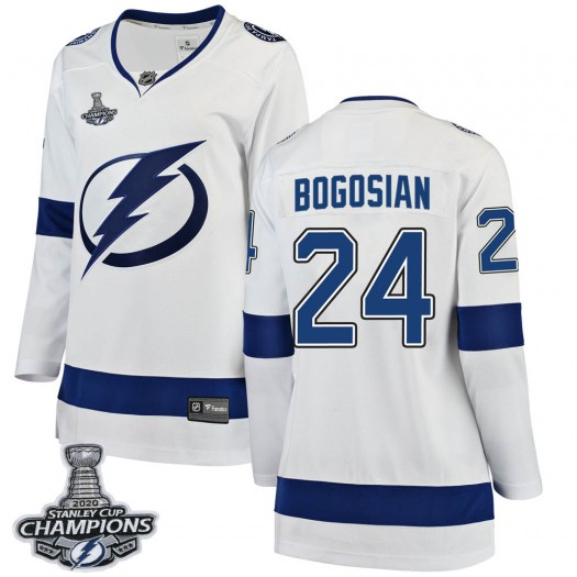 Zach Bogosian Tampa Bay Lightning Women's Fanatics Branded White Breakaway Away 2020 Stanley Cup Champions Jersey