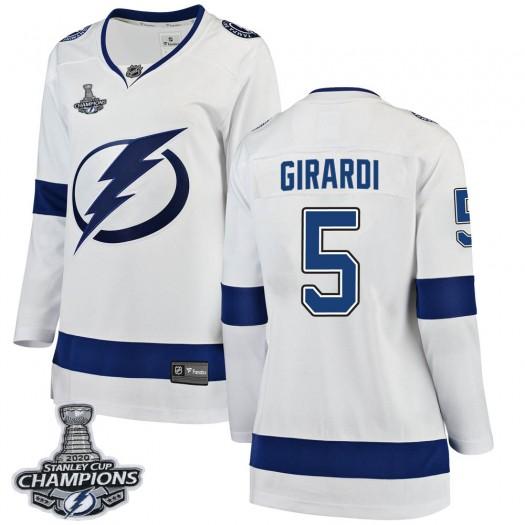 Dan Girardi Tampa Bay Lightning Women's Fanatics Branded White Breakaway Away 2020 Stanley Cup Champions Jersey