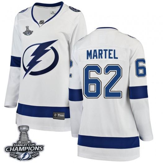 Danick Martel Tampa Bay Lightning Women's Fanatics Branded White Breakaway Away 2020 Stanley Cup Champions Jersey
