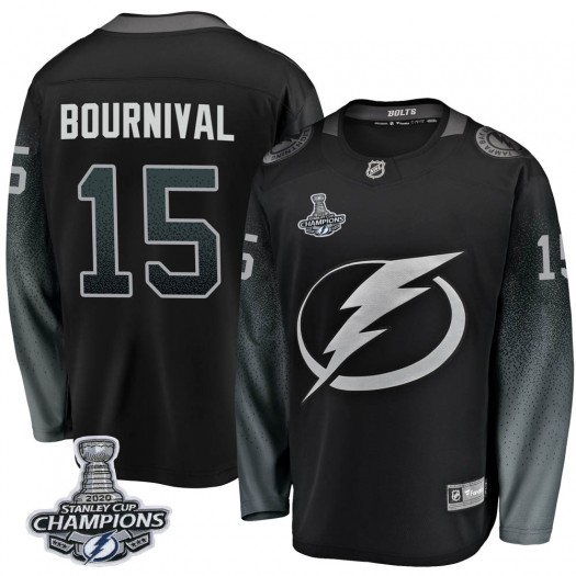 Michael Bournival Tampa Bay Lightning Youth Fanatics Branded Black Breakaway Alternate 2020 Stanley Cup Champions Jersey