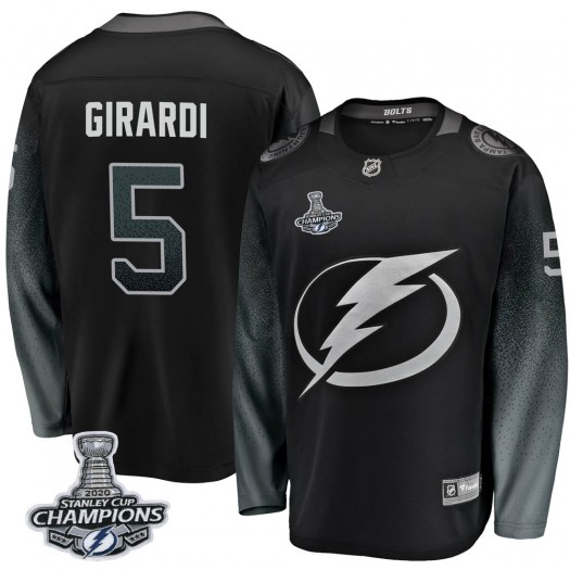 Dan Girardi Tampa Bay Lightning Youth Fanatics Branded Black Breakaway Alternate 2020 Stanley Cup Champions Jersey