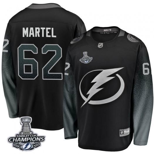 Danick Martel Tampa Bay Lightning Youth Fanatics Branded Black Breakaway Alternate 2020 Stanley Cup Champions Jersey