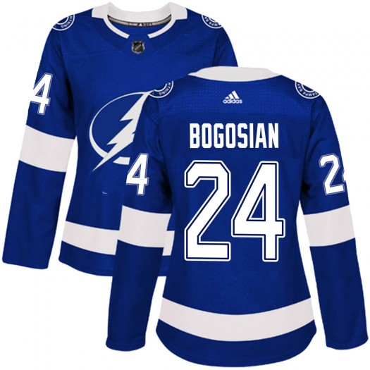 Zach Bogosian Tampa Bay Lightning Women's Adidas Authentic Blue ized Home Jersey