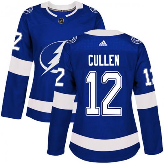 John Cullen Tampa Bay Lightning Women's Adidas Authentic Blue Home Jersey