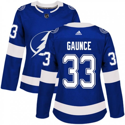 Cameron Gaunce Tampa Bay Lightning Women's Adidas Authentic Blue Home Jersey