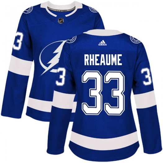 Manon Rheaume Tampa Bay Lightning Women's Adidas Authentic Blue Home Jersey