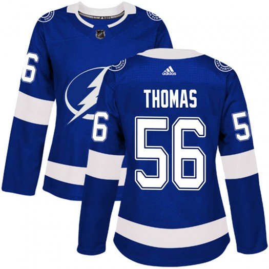 Ben Thomas Tampa Bay Lightning Women's Adidas Authentic Blue Home Jersey