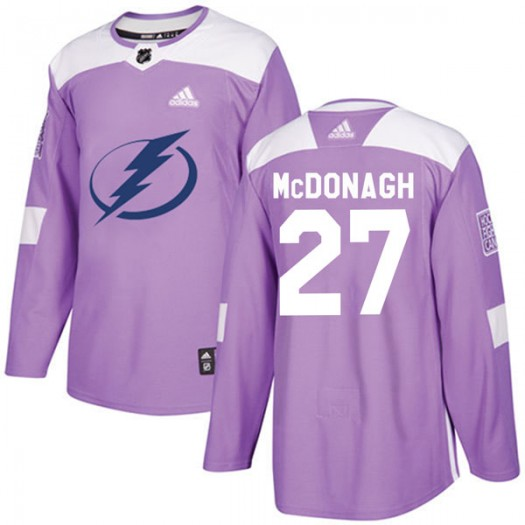 Ryan McDonagh Tampa Bay Lightning Youth Adidas Authentic Purple Fights Cancer Practice Jersey