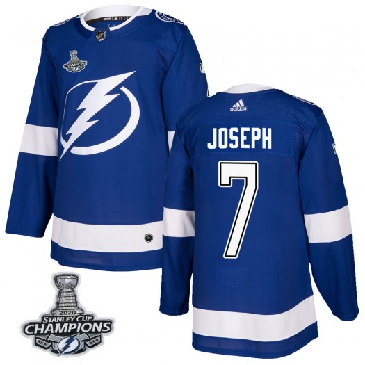 Mathieu Joseph Tampa Bay Lightning Men's Adidas Authentic Blue Home 2020 Stanley Cup Champions Jersey