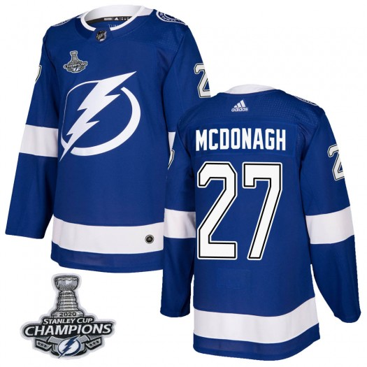 Ryan McDonagh Tampa Bay Lightning Men's Adidas Authentic Blue Home 2020 Stanley Cup Champions Jersey