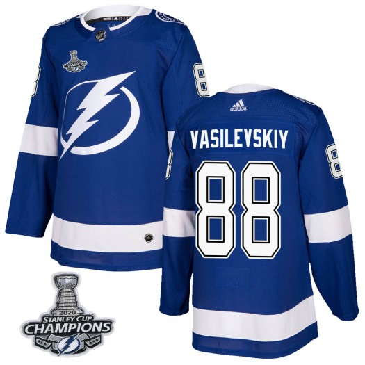 Andrei Vasilevskiy Tampa Bay Lightning Men's Adidas Authentic Blue Home 2020 Stanley Cup Champions Jersey