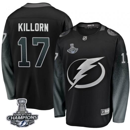 Alex Killorn Tampa Bay Lightning Men's Fanatics Branded Black Breakaway Alternate 2020 Stanley Cup Champions Jersey