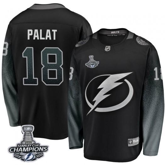 Ondrej Palat Tampa Bay Lightning Men's Fanatics Branded Black Breakaway Alternate 2020 Stanley Cup Champions Jersey