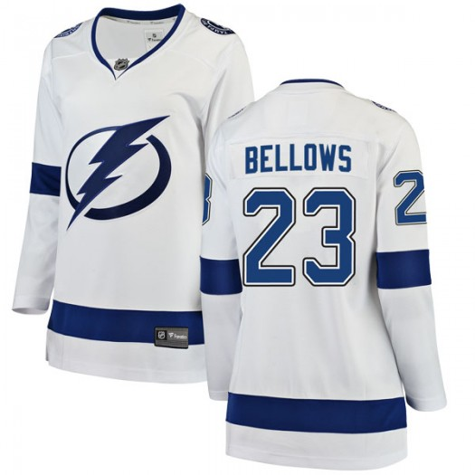 Brian Bellows Tampa Bay Lightning Women's Fanatics Branded White Breakaway Away Jersey