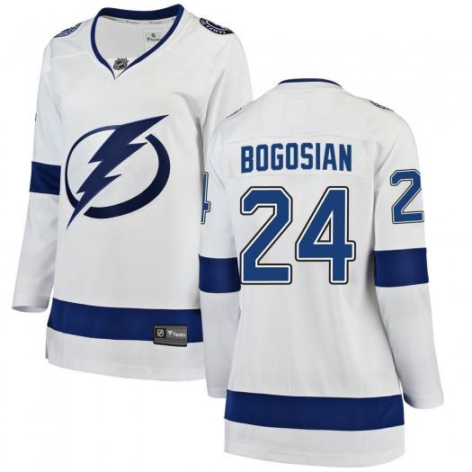 Zach Bogosian Tampa Bay Lightning Women's Fanatics Branded White ized Breakaway Away Jersey
