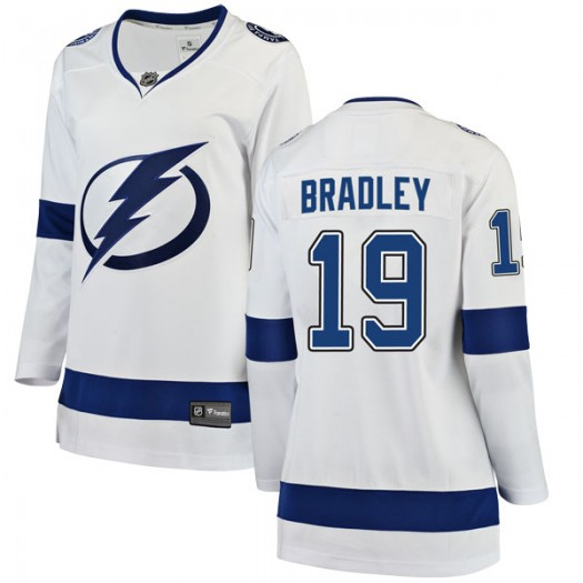 Brian Bradley Tampa Bay Lightning Women's Fanatics Branded White Breakaway Away Jersey