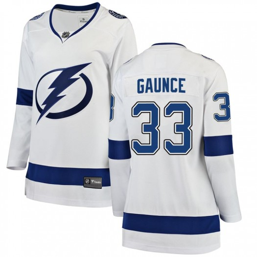 Cameron Gaunce Tampa Bay Lightning Women's Fanatics Branded White Breakaway Away Jersey