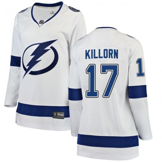 Alex Killorn Tampa Bay Lightning Women's Fanatics Branded White Breakaway Away Jersey