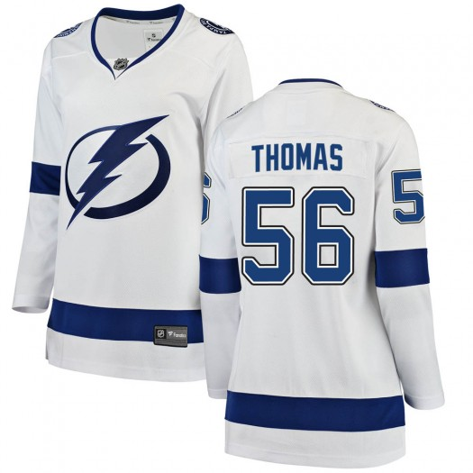 Ben Thomas Tampa Bay Lightning Women's Fanatics Branded White Breakaway Away Jersey