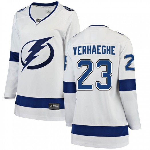 Carter Verhaeghe Tampa Bay Lightning Women's Fanatics Branded White Breakaway Away Jersey