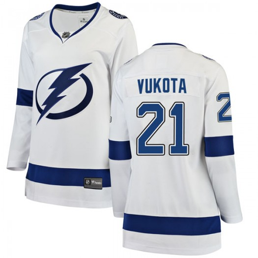 Mick Vukota Tampa Bay Lightning Women's Fanatics Branded White Breakaway Away Jersey