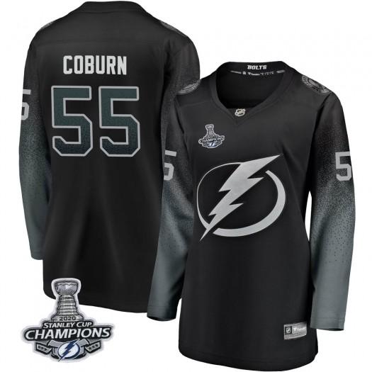 Braydon Coburn Tampa Bay Lightning Women's Fanatics Branded Black Breakaway Alternate 2020 Stanley Cup Champions Jersey