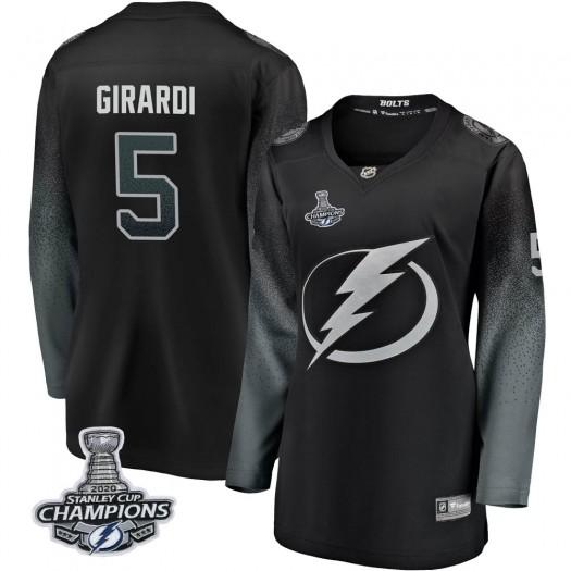 Dan Girardi Tampa Bay Lightning Women's Fanatics Branded Black Breakaway Alternate 2020 Stanley Cup Champions Jersey