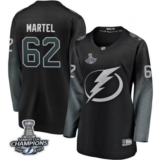 Danick Martel Tampa Bay Lightning Women's Fanatics Branded Black Breakaway Alternate 2020 Stanley Cup Champions Jersey