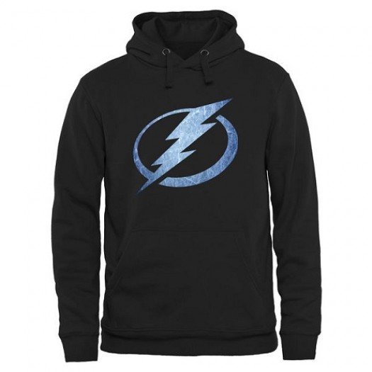 Tampa Bay Lightning Men's Black Rinkside Pond Hockey Pullover Hoodie