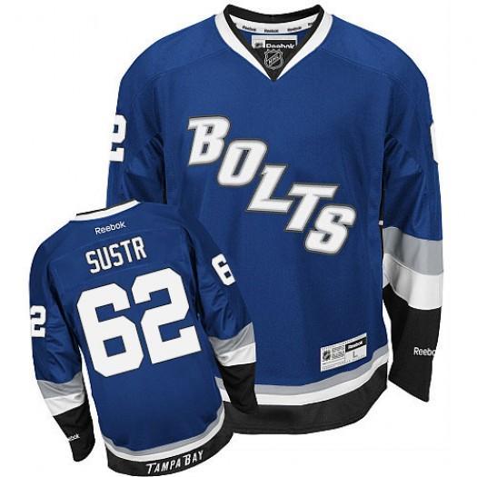 Andrej Sustr Tampa Bay Lightning Men's Reebok Authentic Royal Blue Third Jersey