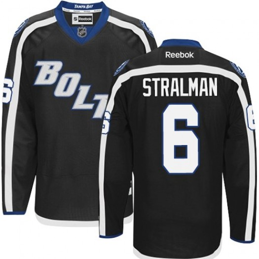 Anton Stralman Tampa Bay Lightning Men's Reebok Authentic Black New Third Jersey