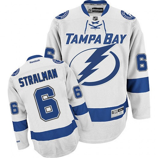 Anton Stralman Tampa Bay Lightning Men's Reebok Authentic White Away Jersey