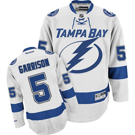 Jason Garrison Tampa Bay Lightning Men's Reebok Authentic White Away Jersey