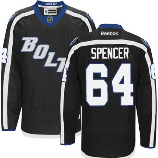 Matthew Spencer Tampa Bay Lightning Men's Reebok Authentic Black New Third Jersey