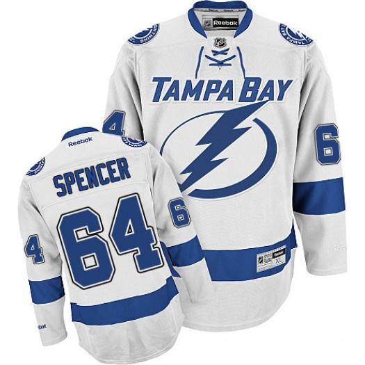 Matthew Spencer Tampa Bay Lightning Men's Reebok Authentic White Away Jersey
