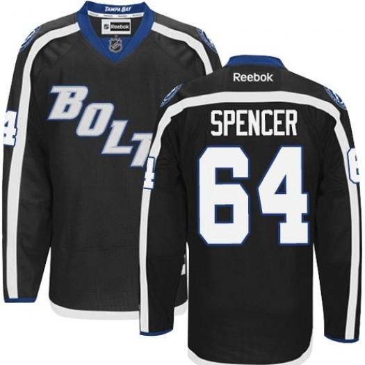 Matthew Spencer Tampa Bay Lightning Men's Reebok Premier Black New Third Jersey