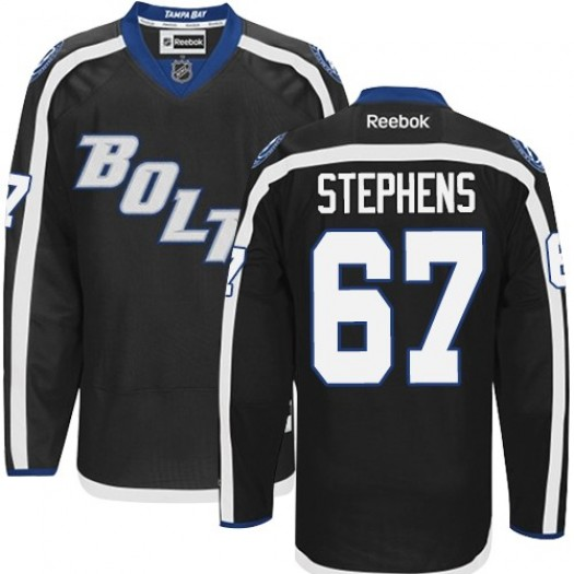 Mitchell Stephens Tampa Bay Lightning Men's Reebok Premier Black New Third Jersey
