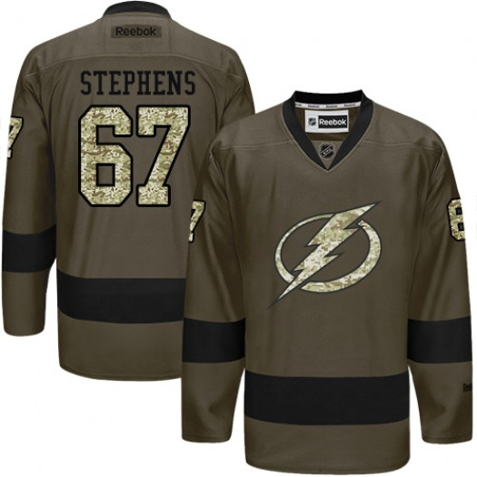 Mitchell Stephens Tampa Bay Lightning Men's Reebok Premier Green Salute to Service Jersey
