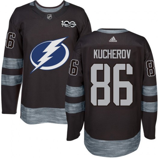 info for 87b49 1172e Nikita Kucherov Tampa Bay Lightning Men's Adidas Authentic Black 1917-2017  100th Anniversary Jersey