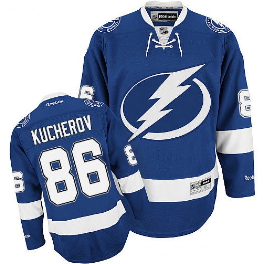 Nikita Kucherov Tampa Bay Lightning Men's Reebok Authentic Royal Blue Home Jersey