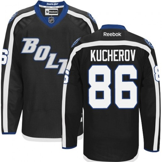 Nikita Kucherov Tampa Bay Lightning Men's Reebok Premier Black New Third Jersey