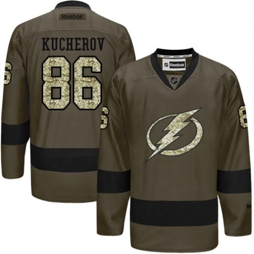 Nikita Kucherov Tampa Bay Lightning Men's Reebok Premier Green Salute to Service Jersey